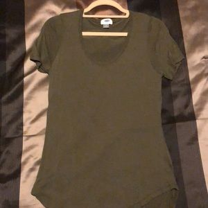 Olive Green Short Sleeve Tunic